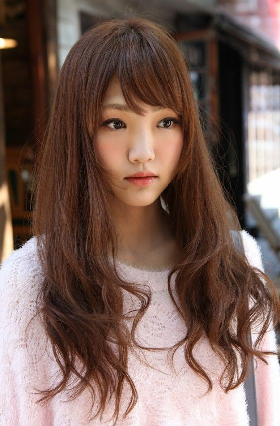 Cute Korean Girls Long Hairstyle T O T 7 9 C M