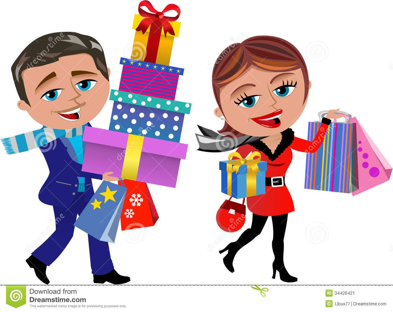 winter woman shopping clipart Google Search Christmas
