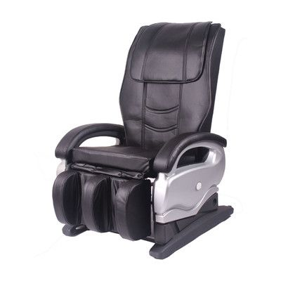 Leather Reclining Heated Massage Chair With Ottoman Massage