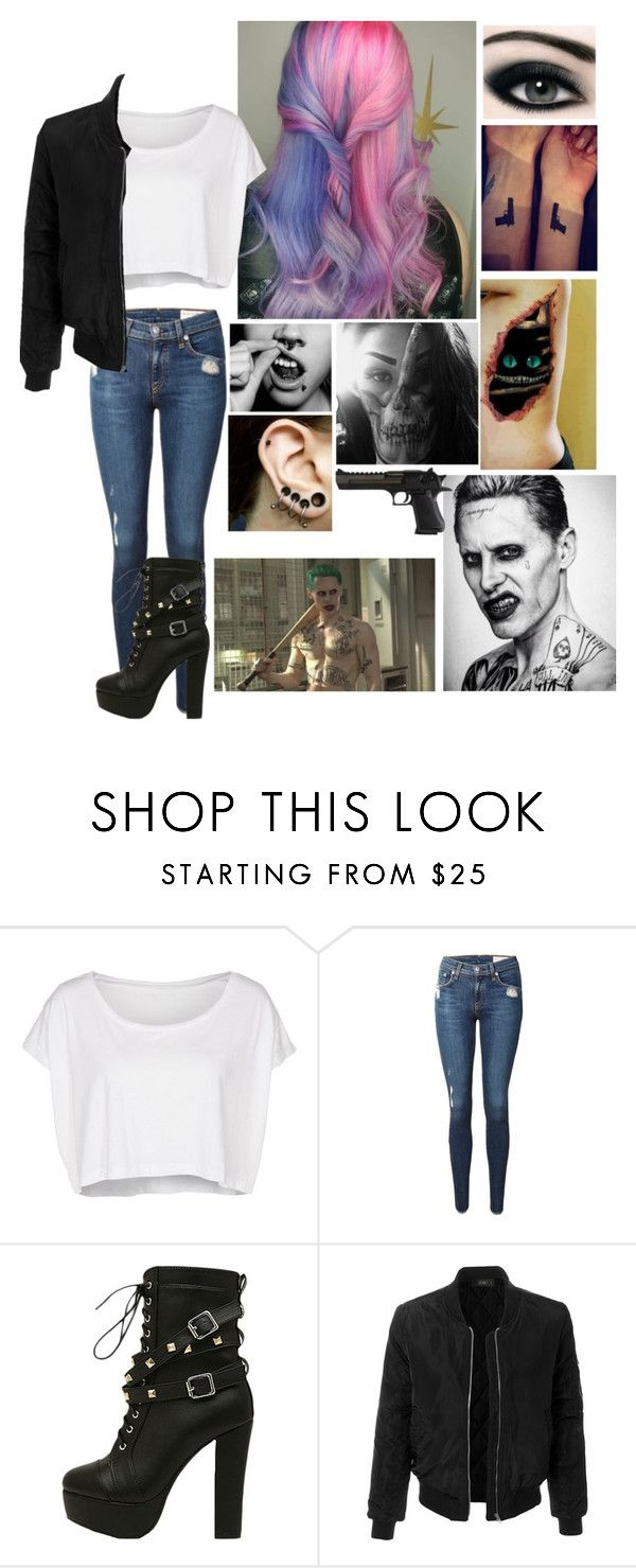 """""""Regular Karmin w/ Joker"""" by winniemjones ❤ liked on Polyvore featuring American Apparel, rag & bone, LE3NO and American Eagle Outfitters"""