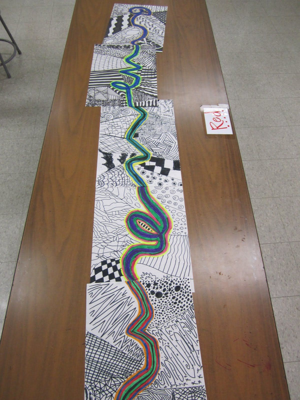 4th Grade Line Design