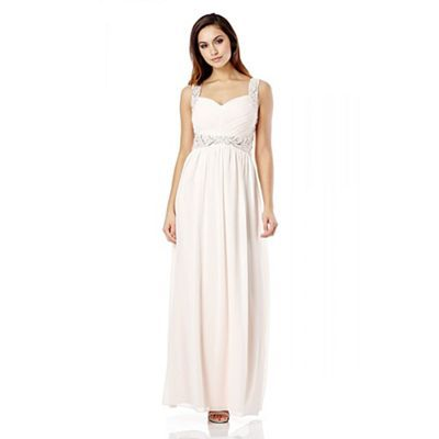Quiz blush pink chiffon pleated diamante maxi dress debenhams quiz blush pink chiffon pleated diamante maxi dress debenhams junglespirit Image collections
