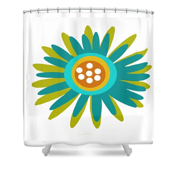 Modern Shower Curtain Mod Floral