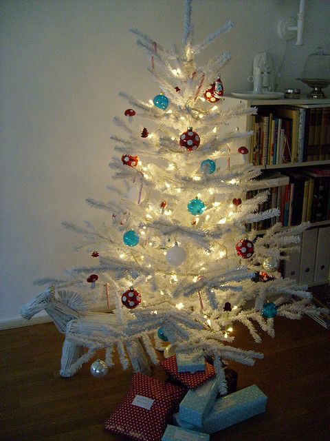 Just decorated my red, white and blue Christmas tree! Love it