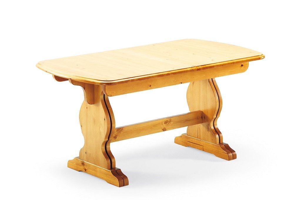 Tavolo fratino allungabile in pino massiccio da cm. 160 x 90, dotato ...