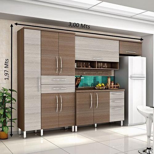 Cozinha Compacta Bartira Cintia Com 9 Portas E 5 Gavetas Em 2020