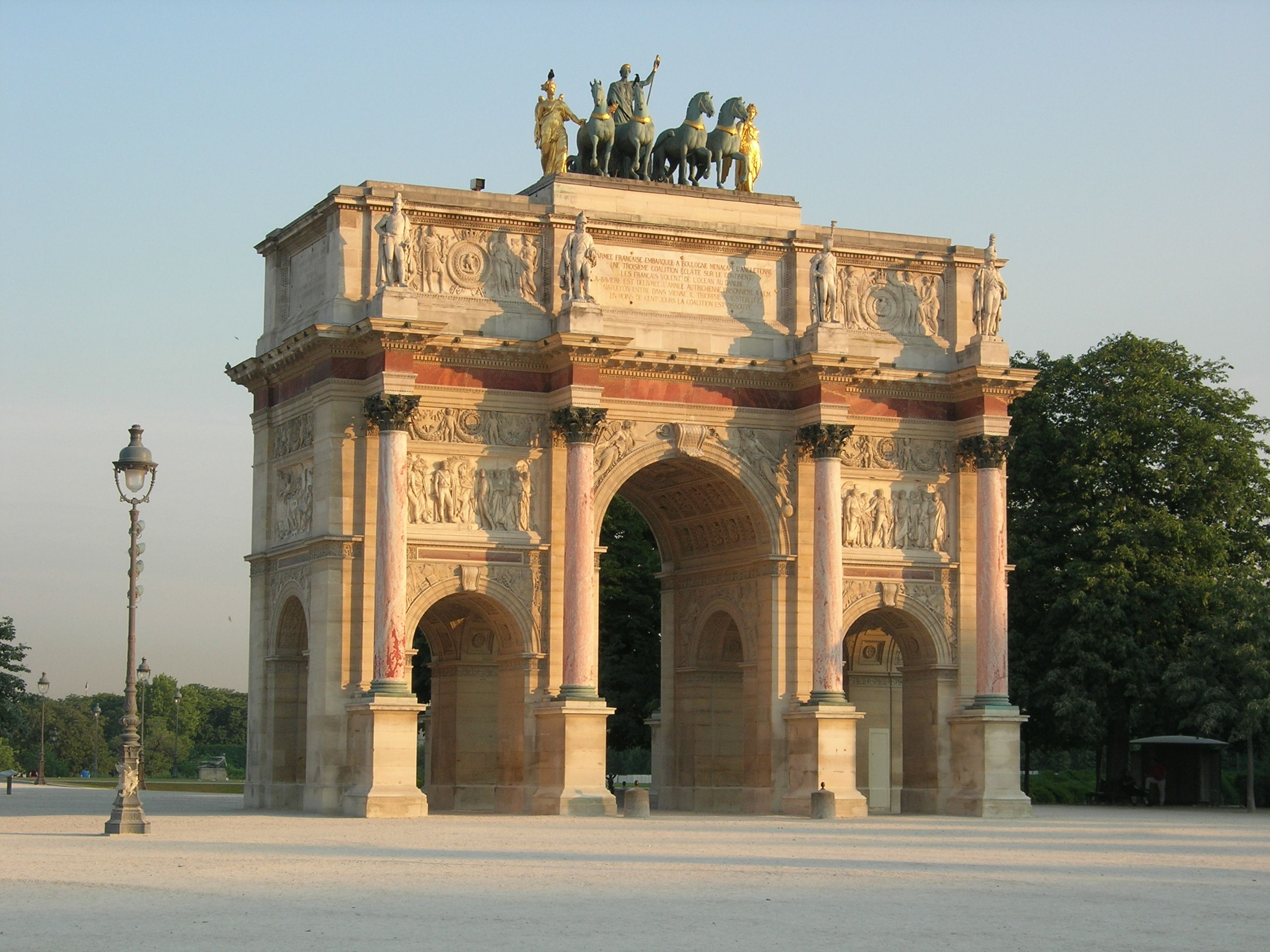 Neoclassicism Arc De Triomphe Du Carrousel Percier And
