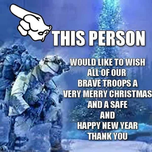 i want to wish our troops a marry christmas and happy new year christmas merry