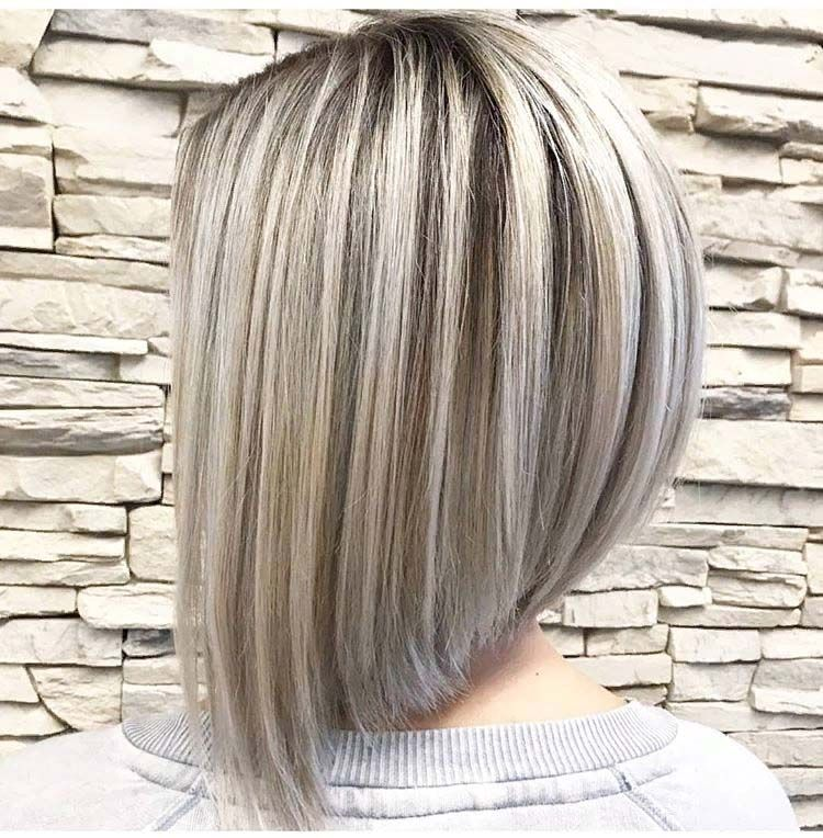 Silver Hair Colors 2019 For A Line Bob Hairstyle My Blog Silver Hair Color Hair Styles Bob Hairstyles