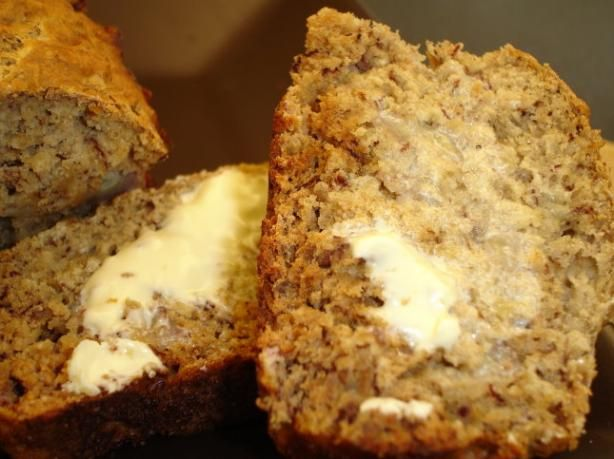 Low Fat Banana Bread from Food.com: A moist banana bread alternative