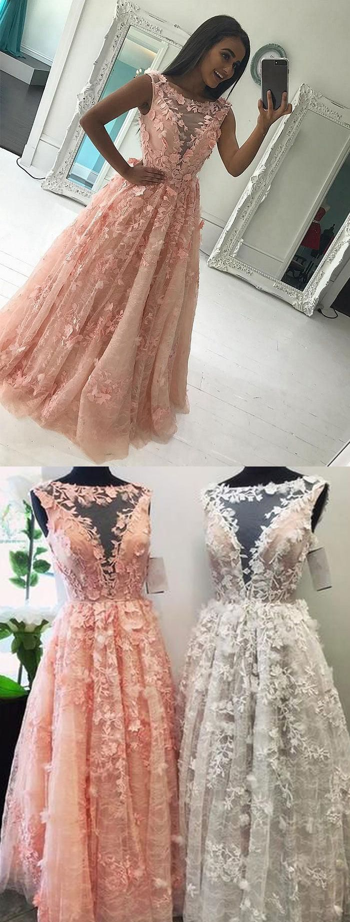 Fance Long Coral Lace Dress