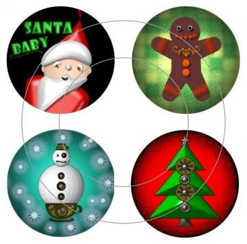 Christmas Designs Digital Collage Sheet by barbosaart for $3.99
