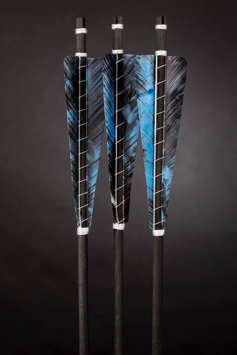 This. I want this to be my arrow fletching pattern (each of us in the family have a different one so we can know who's arrows are whos by sight.) Sure I would have to replace my quiver's currently 14 arrows.. but... okay.