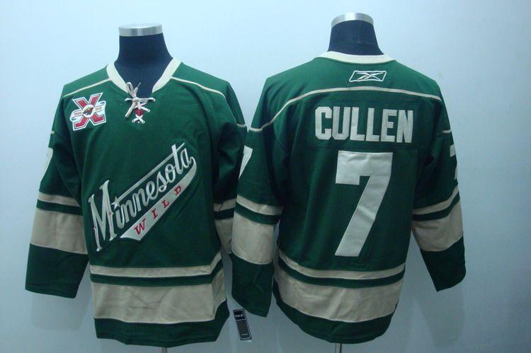 quality design b2b23 60e3a Minnesota Wild 7 Matt CULLEN Third Jersey Green | Minnesota ...