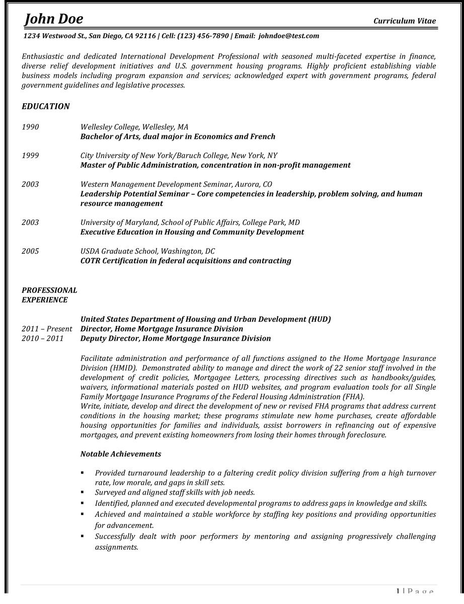 How To Write A Quality Curriculum Vitae Cv Professional Resume