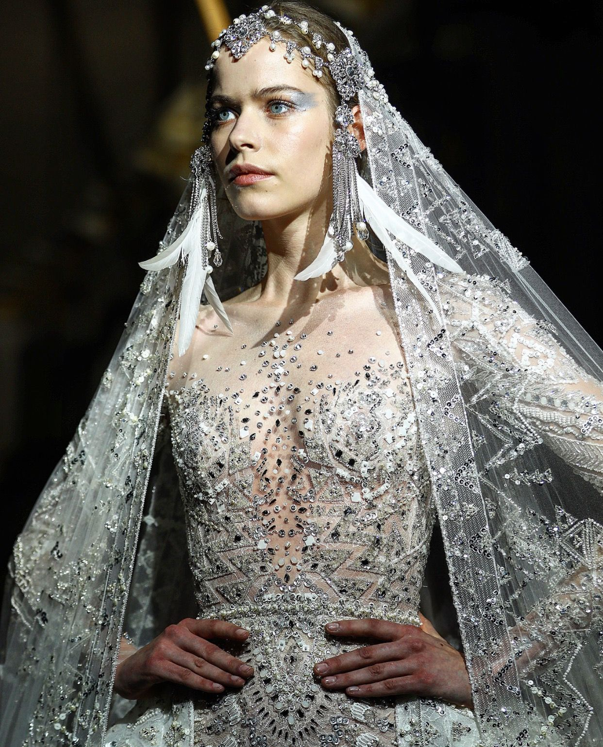 Pin by Lacey Barker on Zuhair Murad | Wedding dress with ...