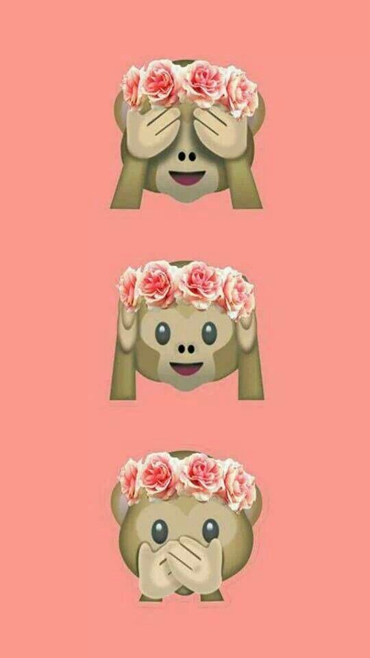 Emoji Monkey Wallpaper Cute Backgrounds Photo Iphone Wallpapers Live Stickers Screensaver