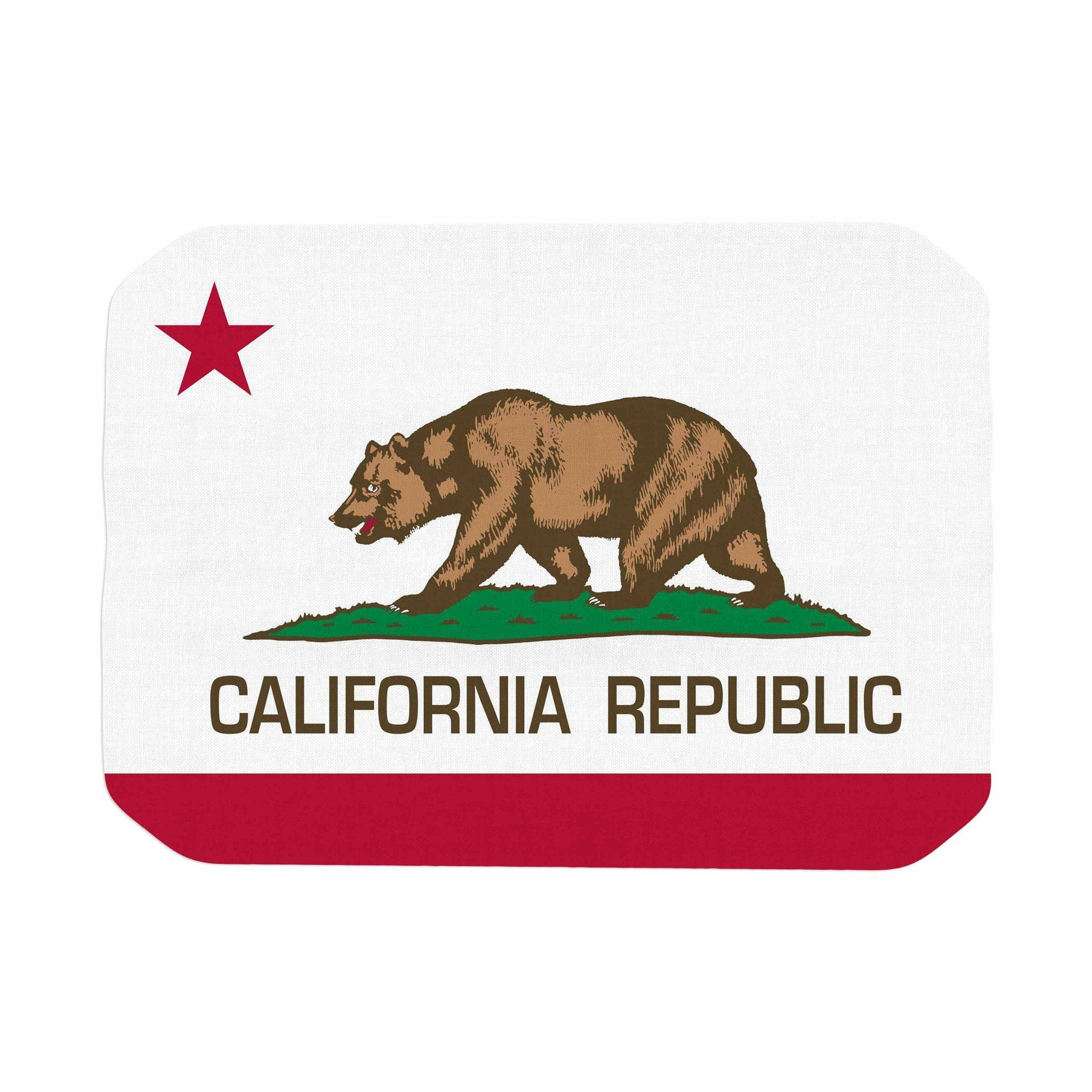 """Bruce Stanfield """"California State Flag"""" Red White Place"""