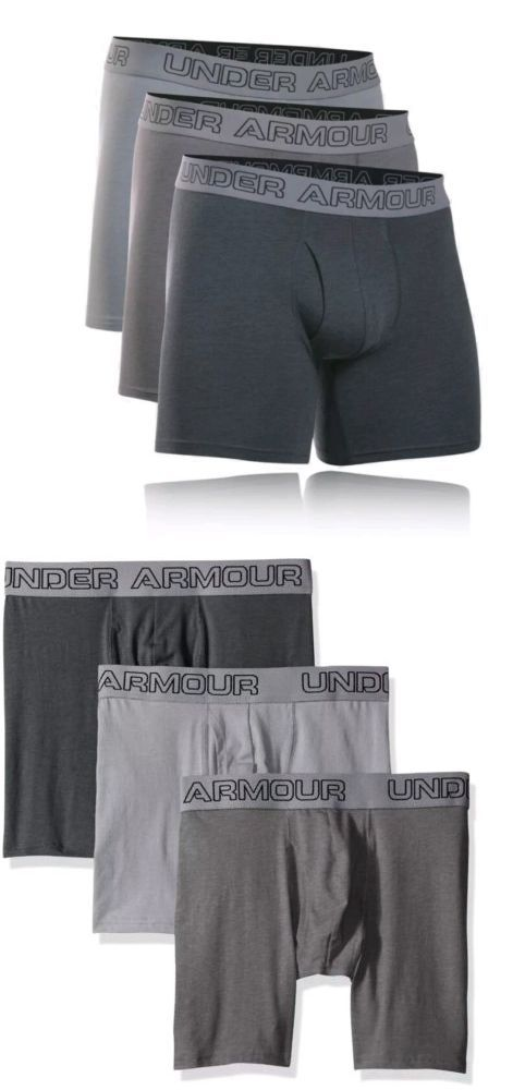 165cff5cfd0c Underwear 11507: Under Armour 3 Pack Cotton Stretch 6 Inch Boxerjock  1277279 Men S Size Large -> BUY IT NOW ONLY: $34.99 on eBay!