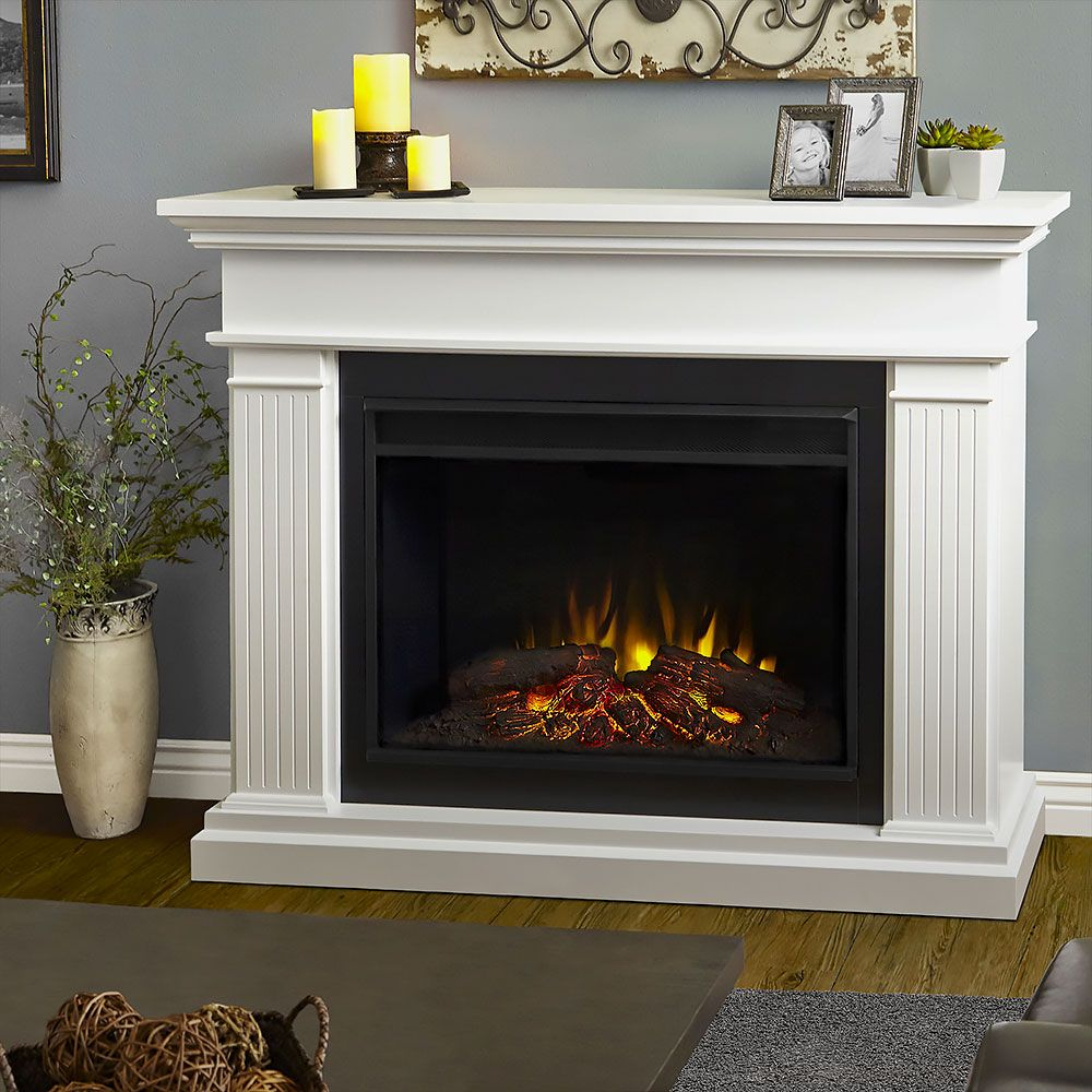 Kennedy Grand Infrared Electric Fireplace Mantel Package ...