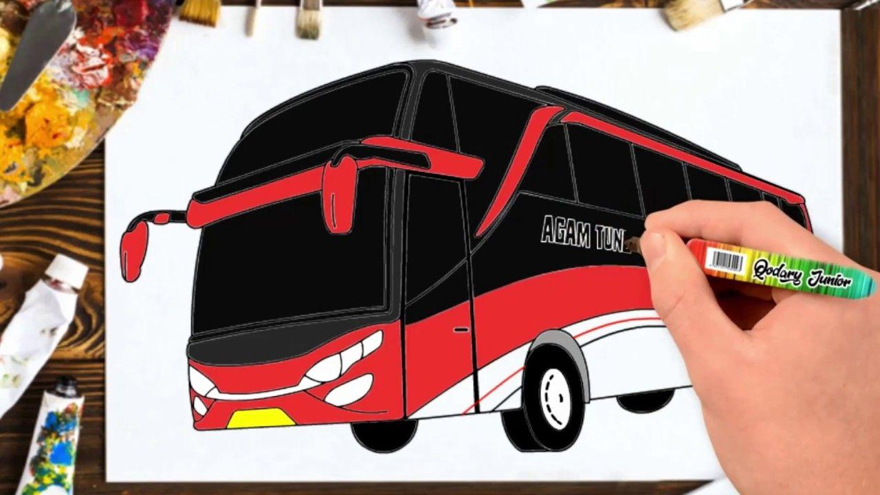 Cara Menggambar Bus Pariwisata Agam Tungga Jaya Shd Menggambar Bus Shd New Video By Qodary Junior On Youtube Gambar Cara Menggambar Pariwisata