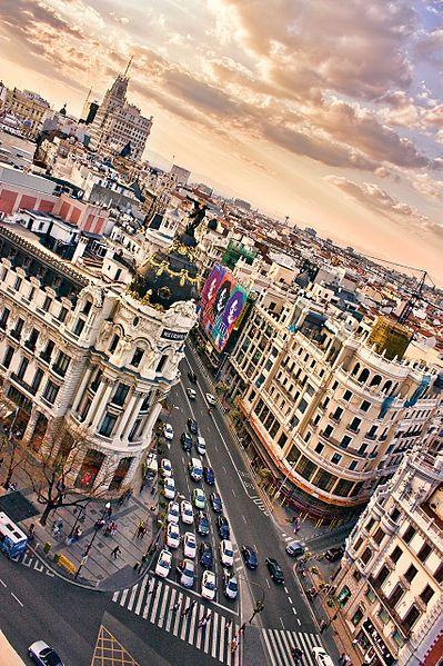 A la croisée de Madrid, en Espagne