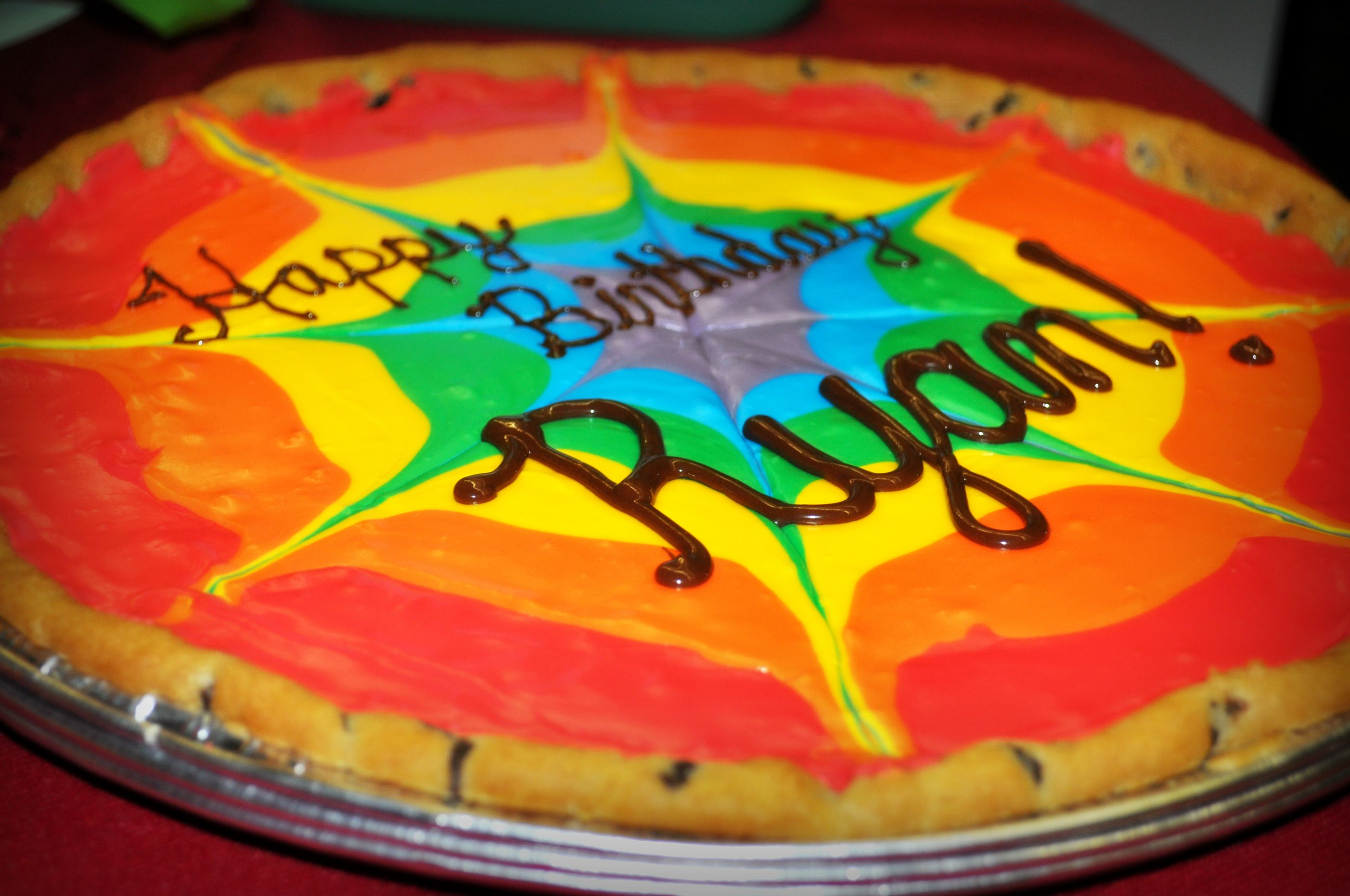 Tie Dye Cookie Cake I Made For A Friend S Birthday