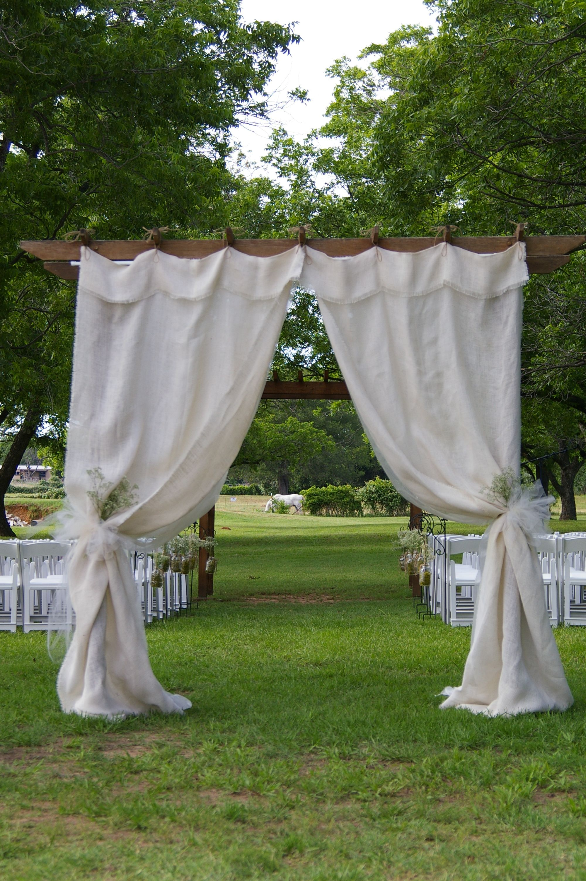 Cute outdoor wedding in the Pecan Orchard www.mdresort.com ...
