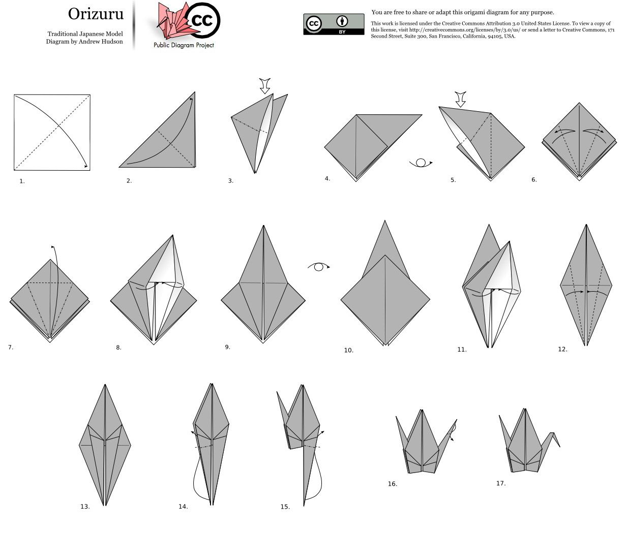 Fold Orizuru Paper Cranes for Hiroshima Day August 6th