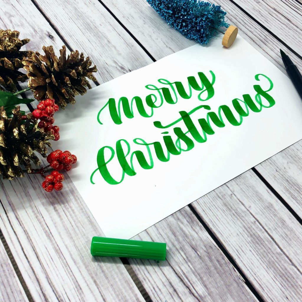 Merry Christmas Calligraphy Tutorial Free Worksheet