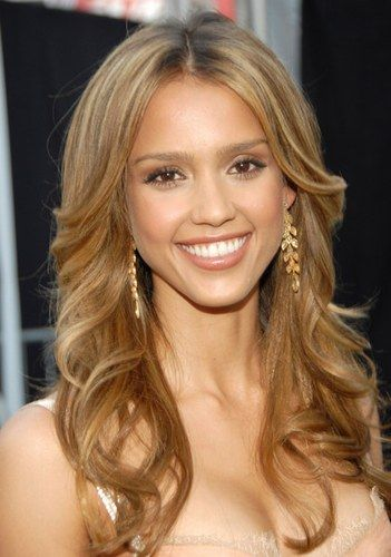 Celebrities Hair Colour Light Golden Brown Hair Jessica Alba Hair Celebrity Hair Colors