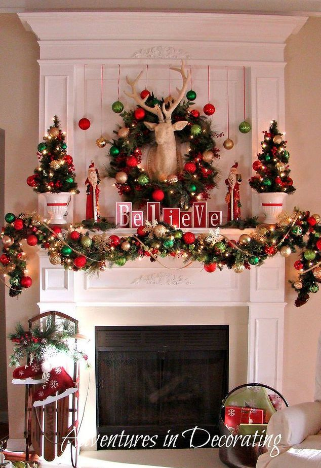 beautiful christmas mantel decor you will love - Beautiful Christmas Mantel Decorations