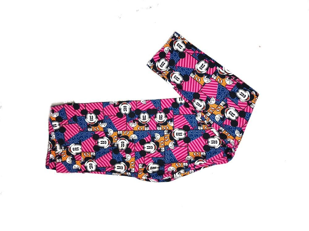 e3d2467539b914 NEW LuLaRoe Disney Mickey Mouse Leggings TC Tall Curvy Pink Stripe Blue  #fashion #clothing #shoes #accessories #womensclothing #leggings (ebay link)
