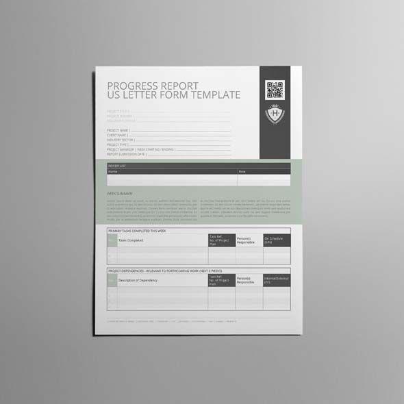 Progress Report US Letter Form Template CMYK \ Print Ready - progress reporting template