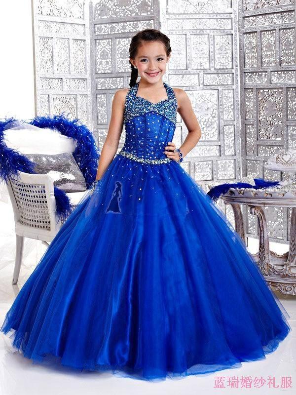 costume princess dress child dress flower girl dress female child formal dress long design wedding dress