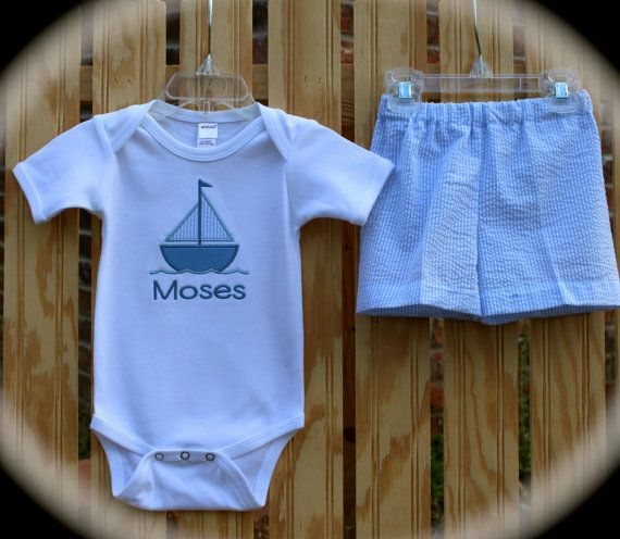 Personalized and Customized Boy's Sailboat and by KinleasKloset, $32.50