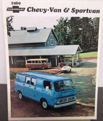 Original 1969 #chevrolet truck #dealer brochure #chevy-van sportvan,  View more on the LINK: http://www.zeppy.io/product/gb/2/331696713850/