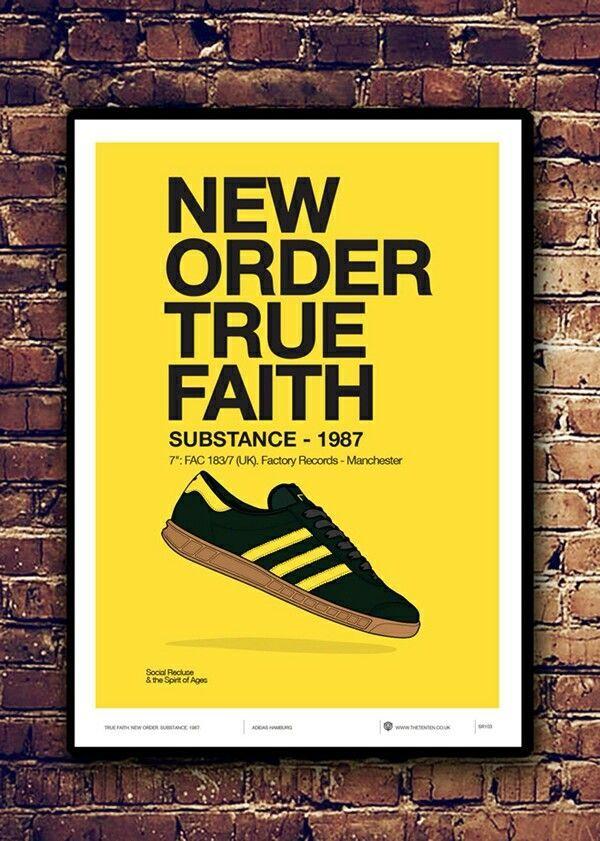 adiart New Order, Hamburg Oslo colourway poster | Sneaker