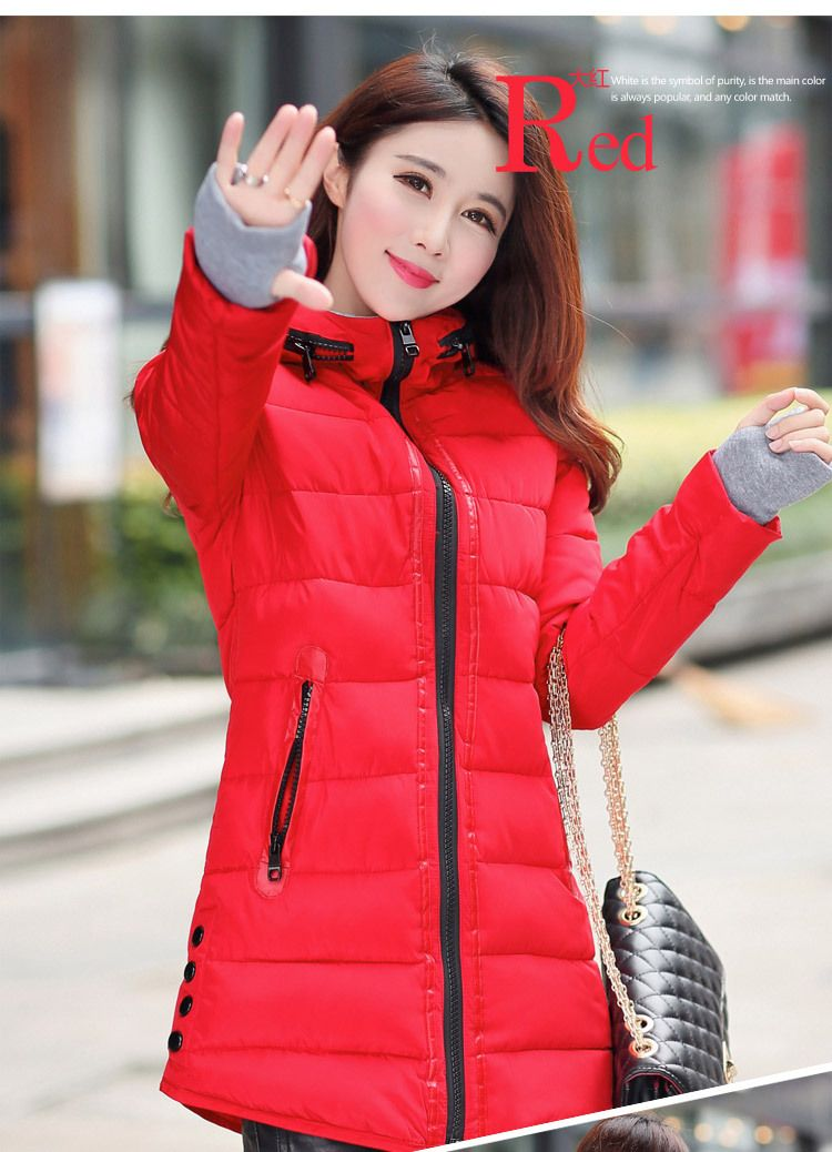 7ace81bf336 2018 winter down jacket for women parka long section cotton plus size  feather female jacket fashion hooded down cotton coat
