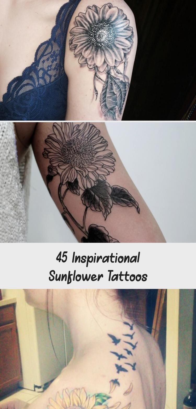 Photo of sunflower tattoo – 45 Inspirational Sunflower Tattoos #sunflowertattoosChest #su…