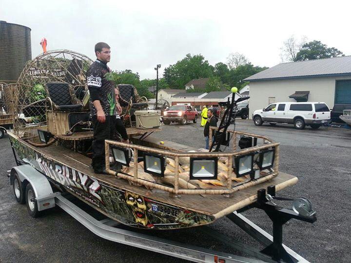 Killbillyz bowfishing boats plans pinterest for Fishing boat lights