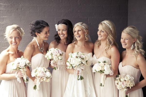 Off White Bridesmaid Dresses These Almost Have A Pink Tint To Them