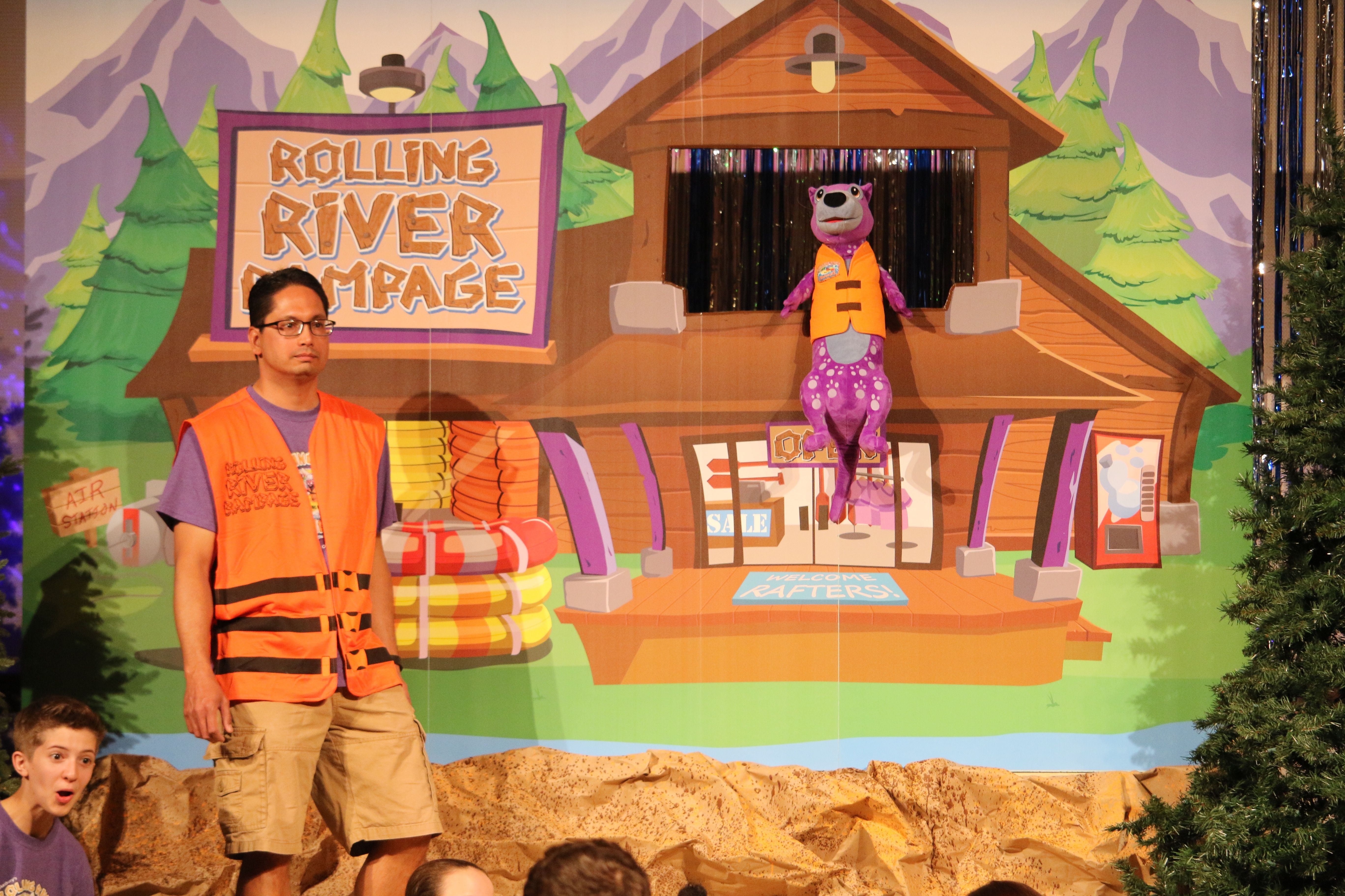Paddle Captain And Romper At Rolling River Rampage Vbs