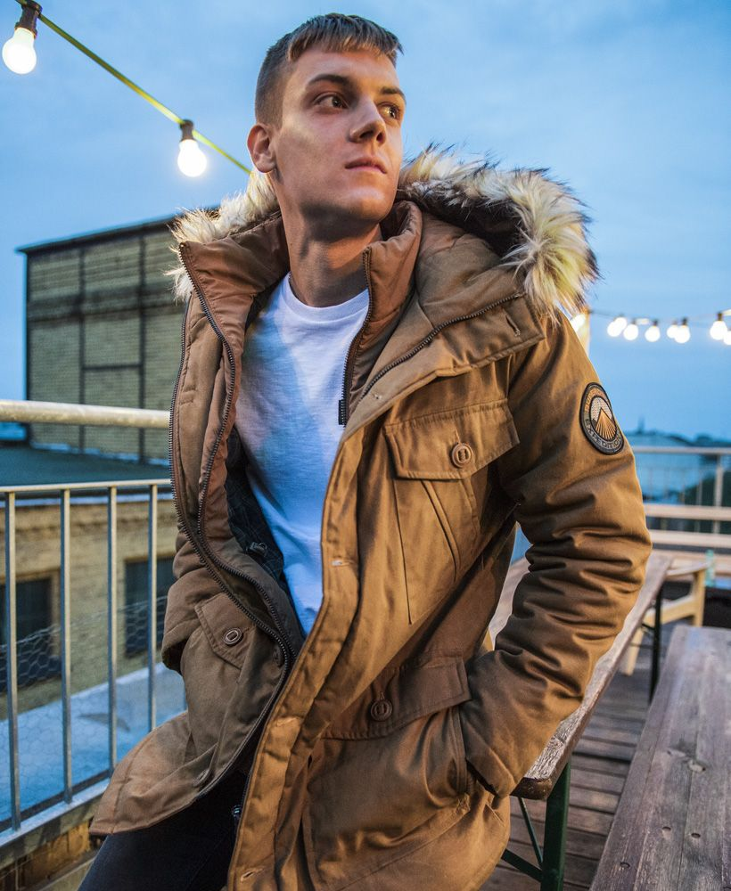 Mens Everest Wax Jacket In Tobacco Superdry Wax Jackets Jackets Superdry [ 1000 x 820 Pixel ]