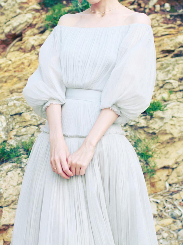 White Off Shoulder Puff Sleeve Chic Women Sheer Mesh Maxi Dress Choies White Off Shoulder Dress Mesh Maxi Dress Dresses [ 1500 x 1125 Pixel ]