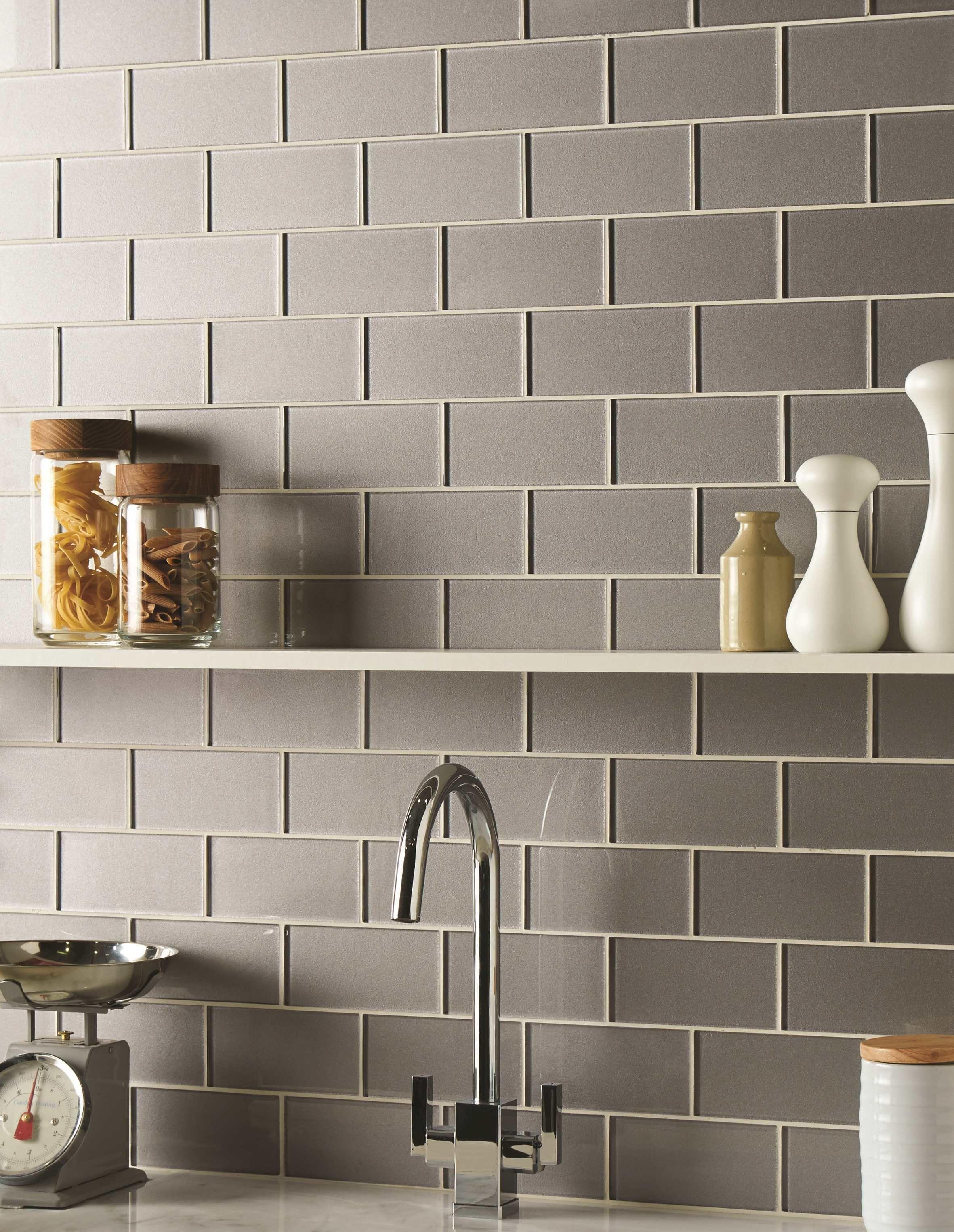 Erebos Metallic Glass Brick Tiles Are A Modern Twist On A Classic