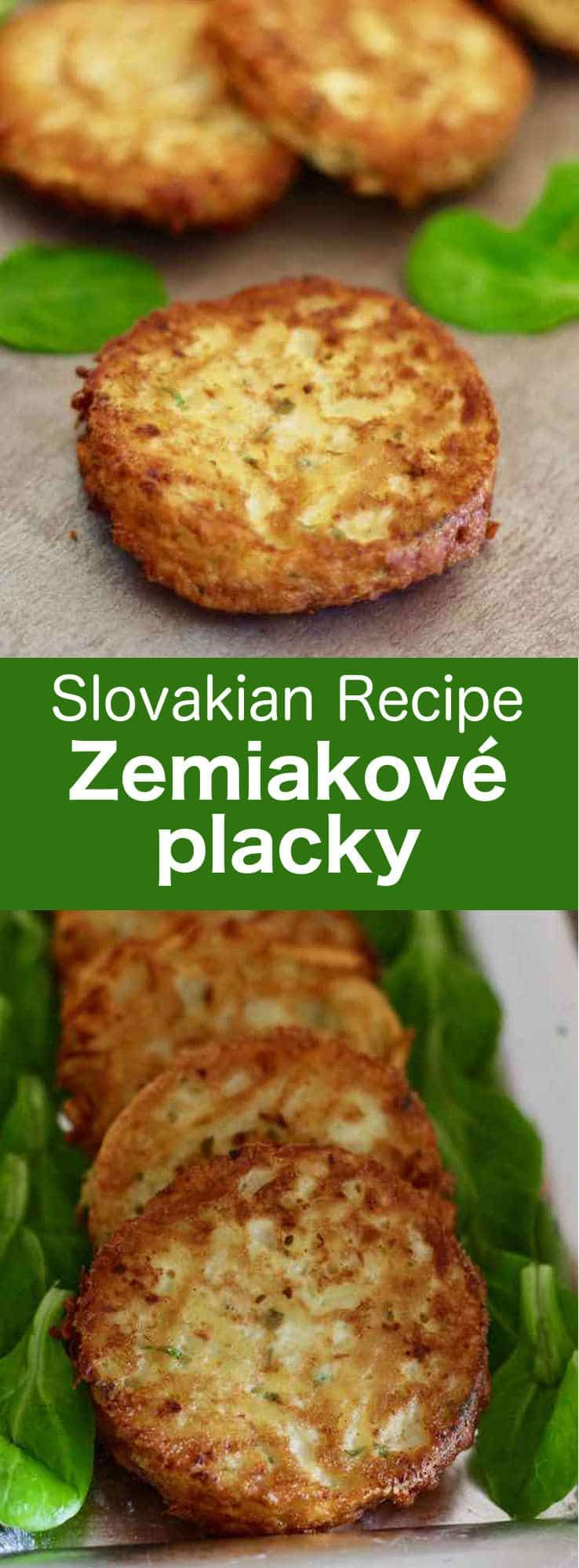 Zemiakové placky (bramboráky) are traditional Slovak potato pancakes, similar to latkes but seasoned with marjoram, which are also called haruľa. #Slovakia #196flavors #czechrecipes