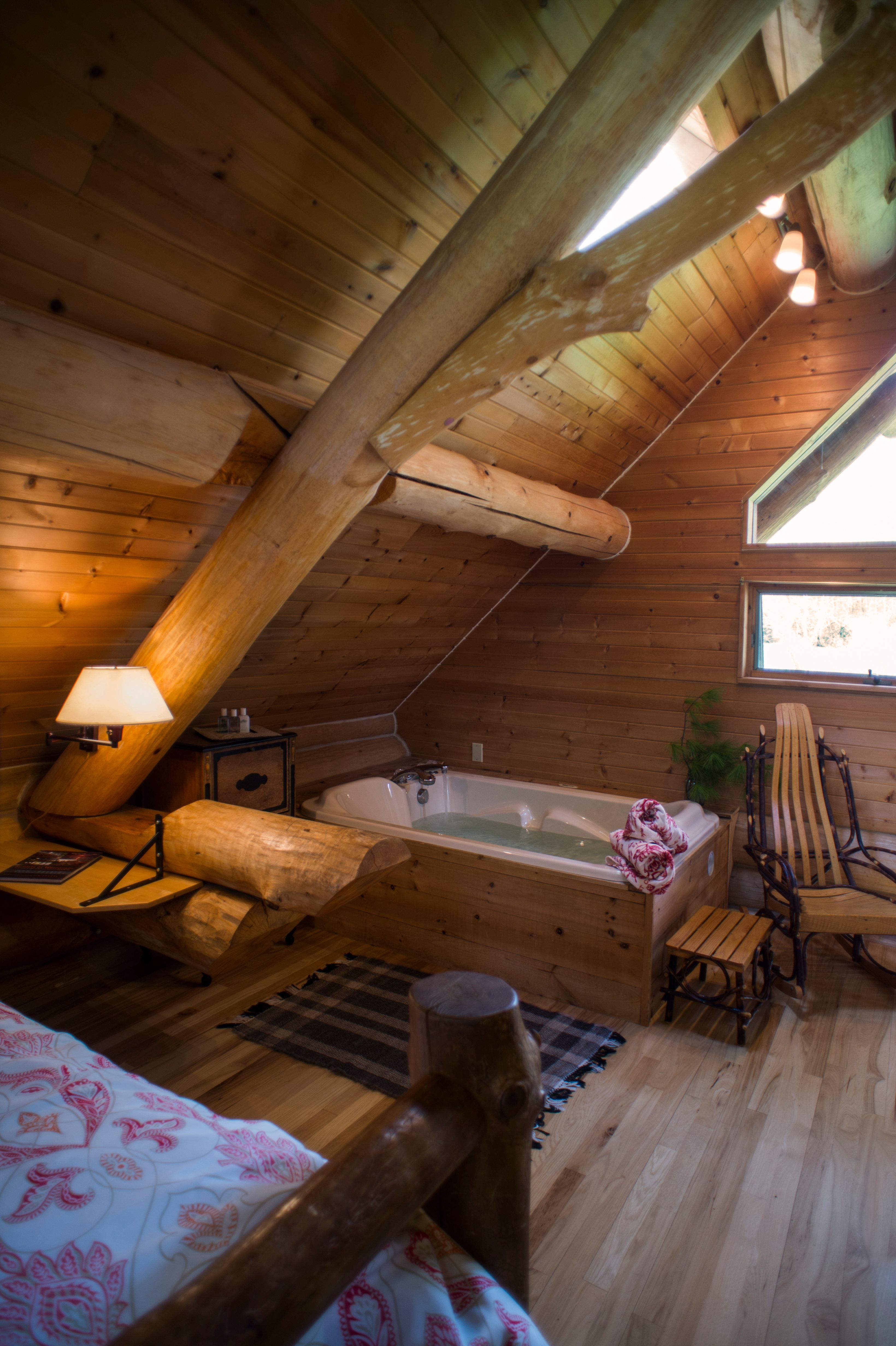 Paul Bunyan cabin at Justin Trails Resort near Sparta WI