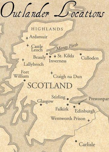 map of outlander highlands | Outlander | Pinterest | Outlander