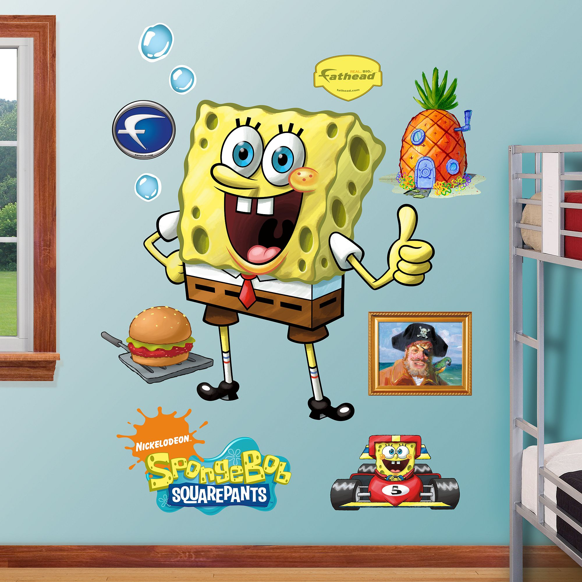 SpongeBob SquarePants Get Off At Virtualpiggycomfathead - Spongebob room decals